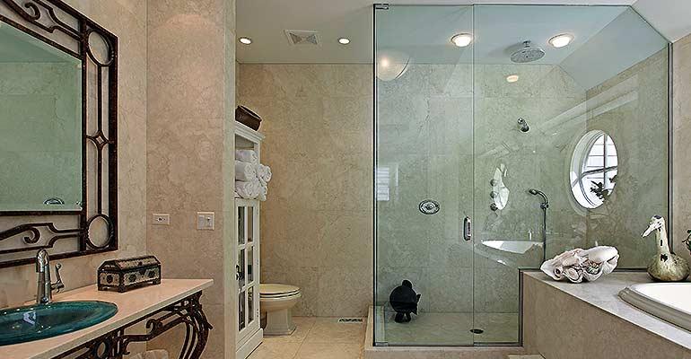 Custom showers doors tiles glass enclosures for Bathroom remodeling lansing mi